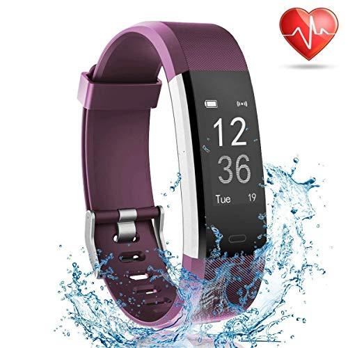 mit Pulsmesser, Smart Watch Activity Tracker Schrittzähler Sport Armband mit Schlaf Monitor Schritt Kalorienzähler Armband für Android und iOS Smartphone ()
