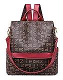 Juchen Rucksäcke Printing Backpack Jungen Wasserdicht Rucksack Freizeit Mode Reiserucksack Damen Farbabstimmung (Braun)