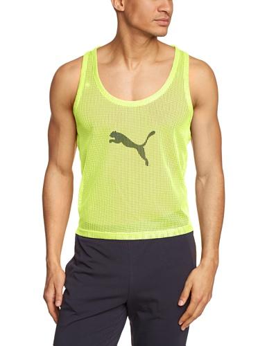 Puma Herren T-shirt Bib, fluro yellow, XL, 653983 42