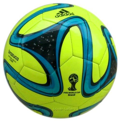 adidas Fußball Brazuca Glider, Solar Slime/Black/Samba Blue, 5, G73629 (Adidas Ball, Fußball Original)