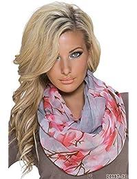 Fashion Damen Loop Schal Loopschal Schlauchschal Rundschal mit Print, weitere Farben