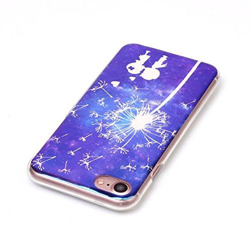 Cover iphone 8 / 7, Custodia iphone 8 / 7, Alfort Cover Protettiva Premium TPU di alta qualità Flip Case Cover per iphone 8 / 7 4.7 Smartphone Colorato Cristallo Trasparente Ultra Sottile Morbido TPU Gli Amanti