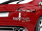 GRAZDesign 745036_10_048G Auto-Aufkleber Baby fürs Auto Spruch Top Mum on Tour | Geschenk zur Geburt - Heckscheiben-Aufkleber (18x10cm//048 bordeaux)