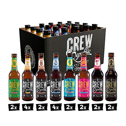 CREW Republic Craft Beer Box, Craft Bier Probierset Biertasting (20 x 0,33 l )