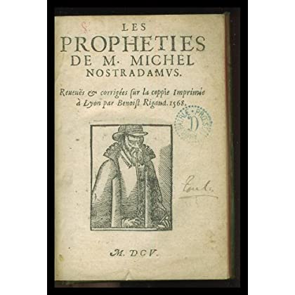 Nostradamus prophéties. Première édition (1503)