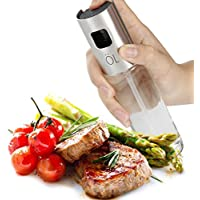 Aceite Pulverizador Botella, Bidear Mister Dispensador de Vinagre de Vidrio, Herramienta de Cocina para Pasta, Ensaladas, Sartenes, Parrillas y Barbacoas (100 ML)