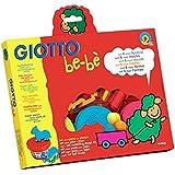 Giotto 462900 - Set súper pasta para jugar, con 6 moldes con formas de animales, 2 accesorios para modelar y 3 botes de paste de 100 g, colores surtidos