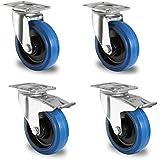 1 Satz Blue Wheels Lenkrollen 100mm Lenk/FS