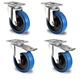 1 Satz Blue Wheels Lenkrollen 100mm Lenk/FS