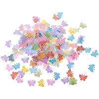 MagiDeal 1 Bolsa Confeti Asperja Dispersa de Plástico Forma de Mariposa Decoración de Mesa de Boda Artesanía de Bricolaje - Multicolor