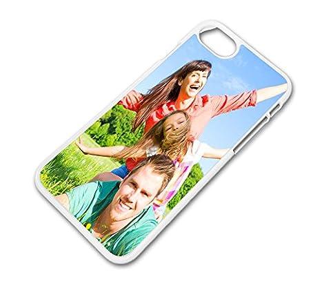 Hülle für iPhone 7 Schale Cover Case mit eigenem Wunsch Foto Motiv Design Logo, Farbe:Weiß