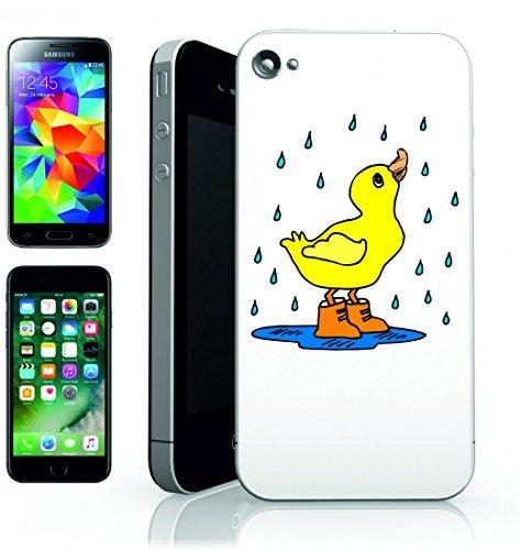 Smartphone Case Pioggia di anatra della Pozza di stivali di acqua di uccello grazioso animale della goccia di pioggia gialla di disegno del fumetto per Apple Iphone 4/4S, 5/5S, 5C, 6/6S, 7& Samsun