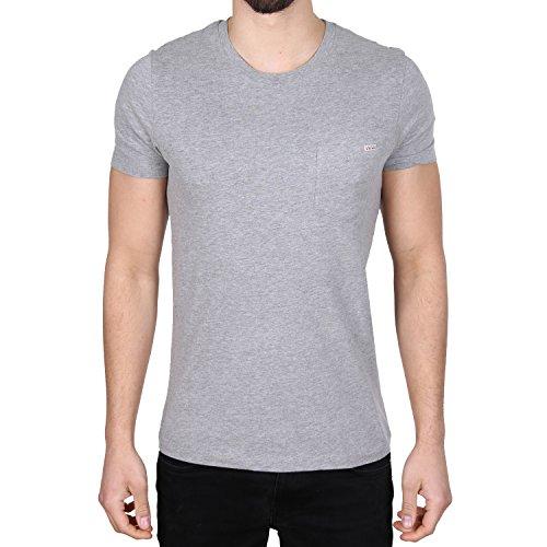 Jack & Jones Nath Crew Neck Pocket T-Shirt Grau Grau