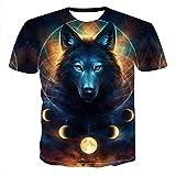 BGBG Chemise 3DT T-Shirt Homme - Imprimé Animal Col Rond Noir