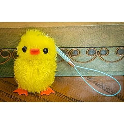Buy 2Get 1Free. Pequeño Fur Cute Chick–Baby Bird Fluffy pato llavero pompón, encanto, pelo de animal, regalo único, diseño de, cadena, Fox, hurón Vogue Fashion colgante ropa novedad llavero y uso especial novedad accesorios llavero