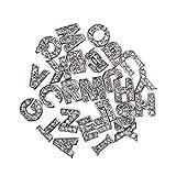SUPVOX Alphabet Charms Strass Buchstaben Anhänger A bis Z Crystal Floating Charms für DIY Handwerk Schmuck Machen 26 Stück (Silber)