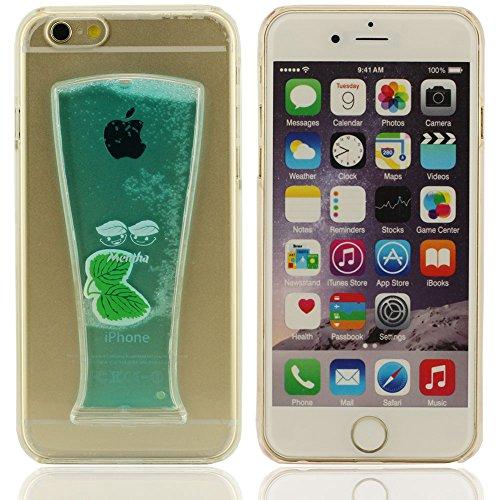iPhone 6 plus Hülle, iPhone 6 plus case,3D Beer Cup verschiedene Farben Fließen Flüssig-weiche Silikon-Kunststoff-Schutzhülle für das Apple iPhone 6 Hülle 4.7 inch(gelb) blau