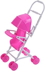 Chinatera Pretend Play Toys Mini Plastic Doll Stroller Trolle one Size 5#