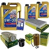Filter Set Inspektionspaket 7 Liter Liqui Moly Motoröl Longlife III 5W-30 MANN-FILTER Innenraumfilter Kraftstofffilter Luftfilter Ölfilter
