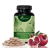 Collagen Plus Complex | 90 Kapseln | Rein pflanzliche Extrakte | Haut - Bindegewebe | Monatsvorrat | Vegan und OHNE chemische Zusätze | Vegavero