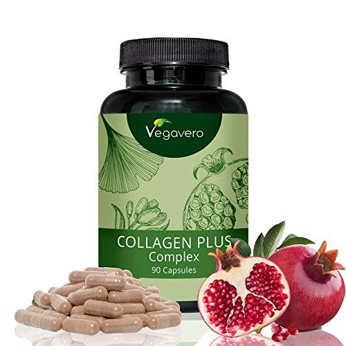 Collagen Plus Complex | 90 Kapseln | Rein pflanzliche Extrakte | Haut - Bindegewebe | Monatsvorrat | Vegan und OHNE chemische Zusätze | Vegavero (Kollagen-extrakt)