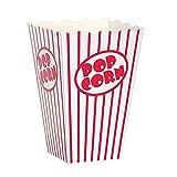 Bekith Popcorn Tüte,Papertüte Partytüte Rot-Weiß Gestreift 48Stück