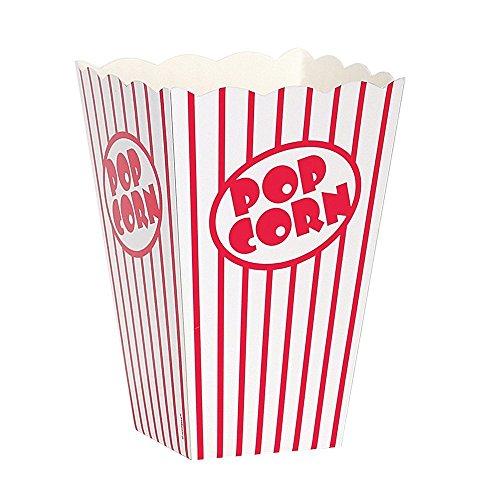,Papertüte Partytüte Rot-Weiß Gestreift 48Stück (Party Popcorn)