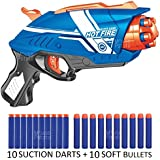 MousePotato Blaze Storm Soft Bullet Gun With 10 Foam Bullets & 10 Suction Dart Bullets