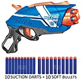MousePotato Blaze Storm Soft Gun with 10 Foam and 10 Suction Dart Bullets (Multicolour)