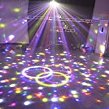 9-color Abnehmbare wiederaufladbar Bluetooth Kristall Magic Ball Light Stage Beleuchtung durch LED Nachtlicht Musik Lichter