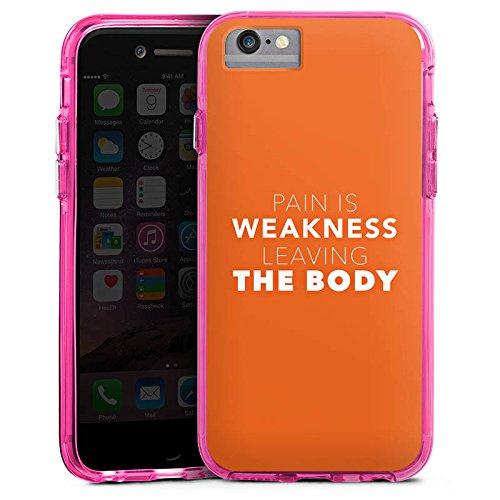 Apple iPhone X Bumper Hülle Bumper Case Glitzer Hülle Sayings Sprüche Phrases Bumper Case transparent pink