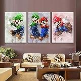 ksjdjok spel poster Super Mario Bros speelfiguur muursticker decoratie achtergrond muurkunst canvas schilderwerk geschenken 4