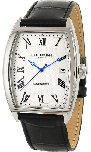 stuhrling-original-park-avenue-mens-quartz-watch-with-silver-dial-analogue-display-and-black-leather
