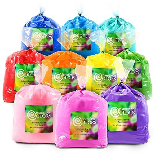 leon Colors - 22,8 kg - 10 Farben. Pure Authentic Fun - Color Races, 5k, Festival. Rot, Gelb, Blau, Grün, Orange, Lila, Pink, Marineblau, Magenta, Aquamarin. ()