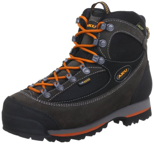 AKU TREKKER LITE II GTX 838, Scarponcini da escursionismo e trekking unisex adulto, Grigio (Grau (Anrt./Arancione 170)), 43 EU