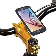 Tigra Sport Mount Case con acqua custodia Smart Cover Rain guard protezione montabile su Tigra Sport integrato e supporto da bici compatibile con - nero/trasparente Samsung Galaxy S6