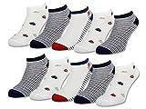 10 Paar Damen Sneaker Socken Maritim mit Komfortbund ohne Gummidruck