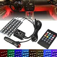HKFV 12V LED Car Charge Interior Zubehör Boden dekorative Atmosphäre Lampe Licht Dekoratives Blitzlicht Sprachaktiviertes... preisvergleich bei billige-tabletten.eu