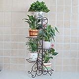 KELE Multi-Storey Flower Rack Balkon blumenregal Flower ständer Innen-und Outdoor-blumentopf-Rack-B 43 * 27 * 103cm(17 * 10.6 * 45.5inch)