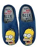 i-Smalls Hommes Homer Simpsons Blue Mule Nouveauté Pantoufles Chaussures (M)