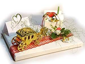 Unbekannt Geldgeschenk Hochzeit Goldene Kutsche Geschenk
