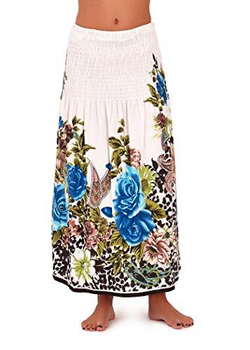 Pistachio - Robe Femme Eté 3-en-1 Motif Floral Coton, Bleu 2, S (EU 36-38) Violet à fleurs