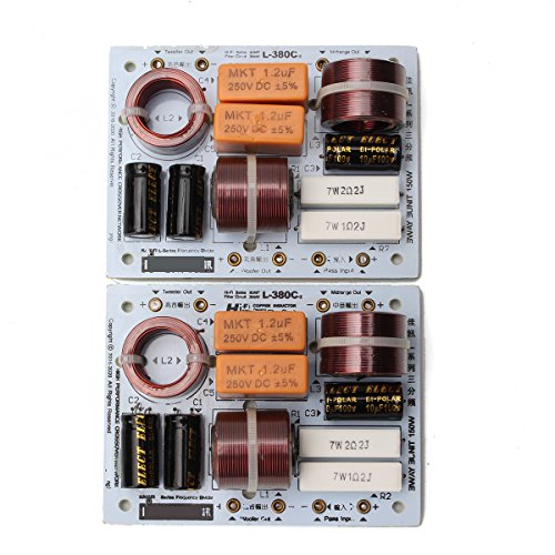 LaDicha 2 Pcs L-380C 3 Vías Altavoz De Alta Fidelidad Divisor De Frecuencias Módulo De Filtros De Crossover