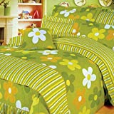 Weimilon Baumwolle Bettbezug Vier Jahreszeiten,Blumen,Gestreift,Einzigen,Student,Individuell,Double X Casual Chic 150X215Cm(59X85Inch) (Color : X, Size : 220 * 240Cm)