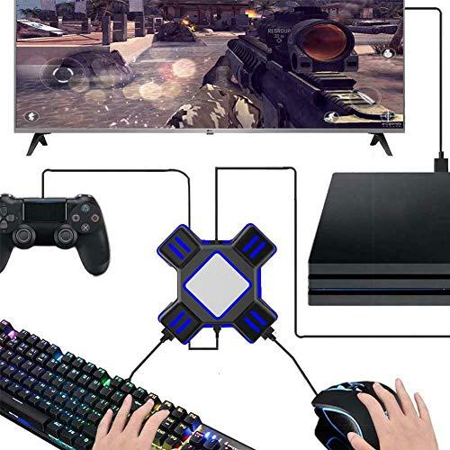 Tastatur und Maus Adapter, Gaming Gamepad Adapter Tastatur Maus Konverter USB2.0 Unterstützung FPS Transforming für Switch, PS4, PS3, Xbox