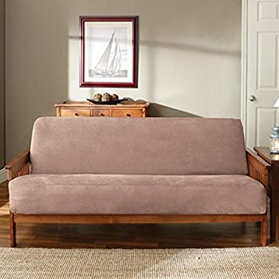 Sure Fit Soft Suede/Sherpa - Futon Slipcover - Smoke Blue