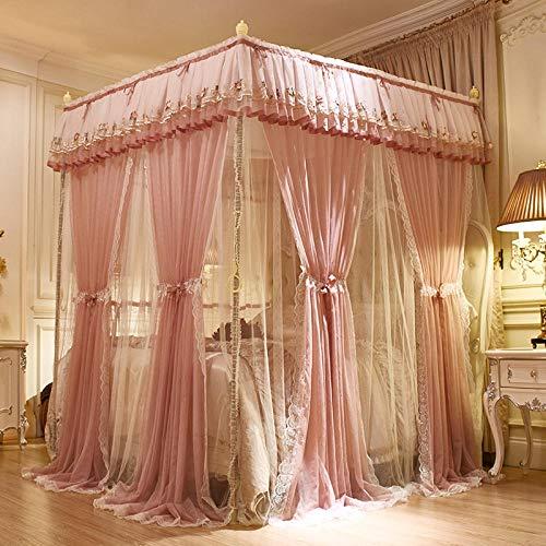 Imagen para Palace Mosquito Net_Princess Wind Palace Mosquito Net Hogar Europeo Tres pisos @ Gran arroz glutinoso rojo_1.5m
