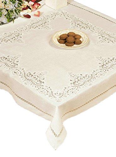 Copritavolo, centrotavola, centro grande in puro lino per il tavolo da cucina, sala da pranzo, salotto, tinello, biancheria made in italy pregiata e di lusso