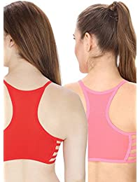 Secret Wish Seamless Padded Sports Bra COMBO (Neon-Pink & Red)-0024-Pink-0024-Red