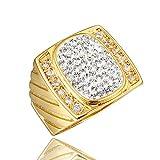Bigiotteria in argento placcato fidanzamento anello Eternity, regali da donna, regali Girls e 18ct base metallo placcato oro, 59 (18.8), cod. DUARK588R